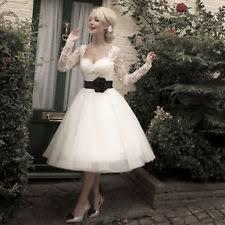 lace neck long sleeve short wedding dresses ebay