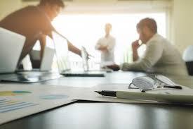 sur le bureau concept d entreprise avec espace de copie table de bureau avec