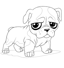 Cute Christmas Dog Coloring Pages At
