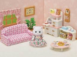 tiere sylvanian families calico critters cat