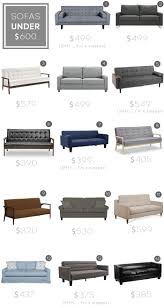 Cheap Living Room Sets Under 1000 by Sofa Roundup Under 600 Emily Henderson Sofas U0026 Chairs