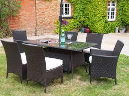 Ebay Patio Furniture Uk by Barcelona 6 Seat Rectangular Table U0026 Carver End Chairs Oakita Rattan