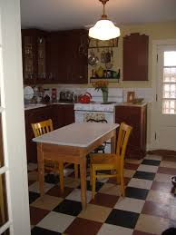 Vintage Style Linoleum Counters Kitchen