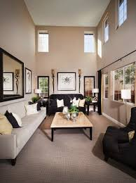 elegantes wohnzimmer in hellgrau bild kaufen
