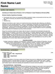 Financial Controller Resume Examples 47 Fresh Accounts Ficer Sample
