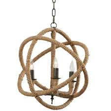 Corsair Rope Foyer Pendant Chandelier The Best Beach Themed Chandeliers You Can
