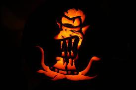 Pumpkin Carving Stencils Minion by Kang Alien From The Simpson Pumpkin Halloween Pinterest
