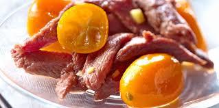 comment cuisiner les aiguillettes de canard aiguillettes de canard aux kumquats facile recette sur cuisine