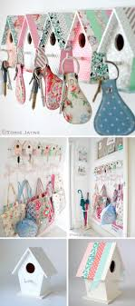DIY Easy Bird House Key Hooks