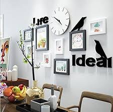 verzierende ideen fotos weiße wand uhren buchstaben wände