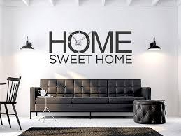 wandtattoo uhr home sweet home modern