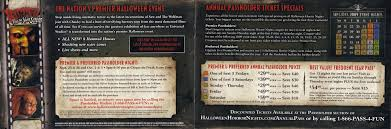 Halloween Horror Nights Frequent Fear Pass by Universal Orlando Brochures U0026 Miscellaneous Items
