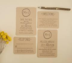 Kraft Wedding Invitation Suite DEPOSIT