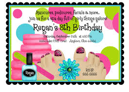 Spa Birthday Party Invitations Is Charming Ideas Which Can Be Applied Into Your Invitation 14