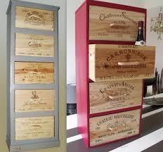 caisse a vin en bois pour recycler des caisses à vin