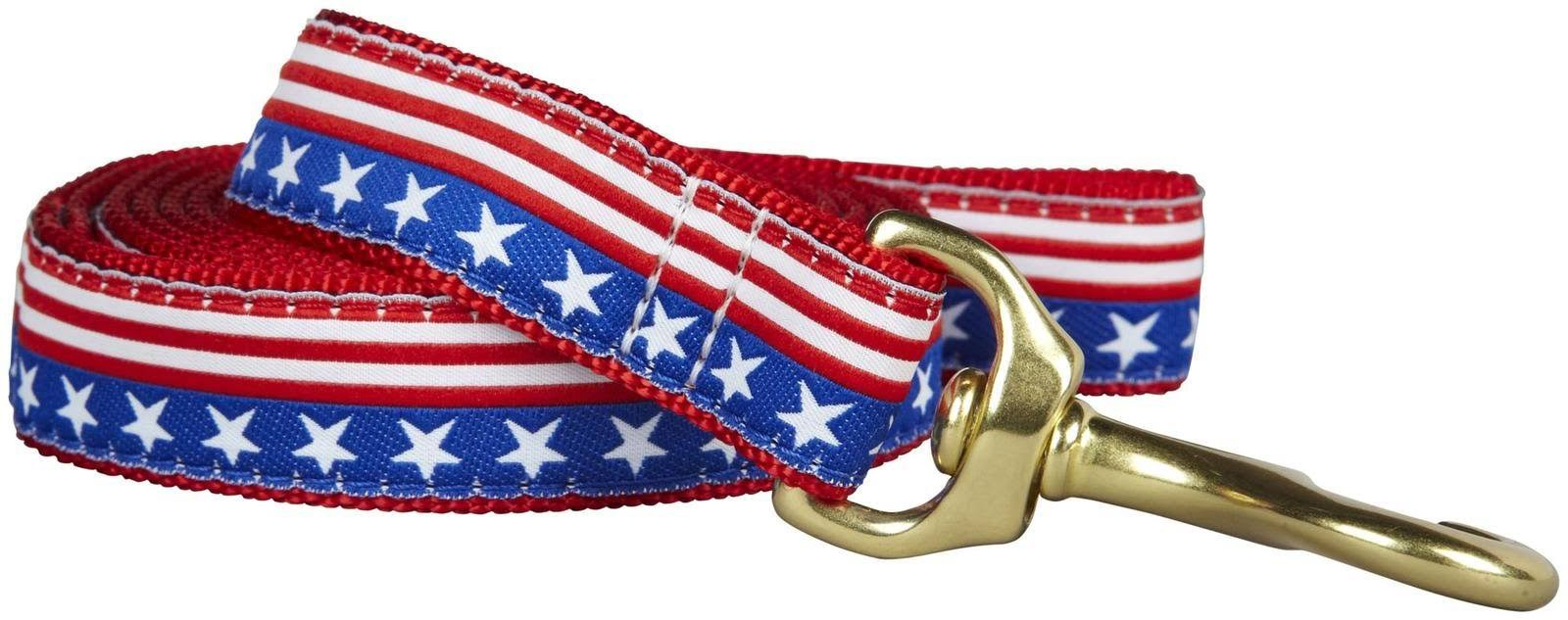 Up Country Star & Stripes Dog Leash Red