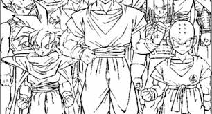 Amazing And Also Interesting Dragon Ball Z Coloring Page Regarding Household