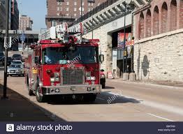 St Louis Fire Department Ladder Truck Downtown St Louis Missouri ...