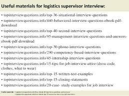 Logistics Supervisor Warehouse Resume Manager Samples