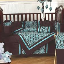 chocolate brown and blue baby bedding baby bed
