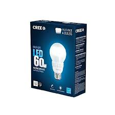 buy cree 60w equivalent daylight 5000k a19 dimmable led light
