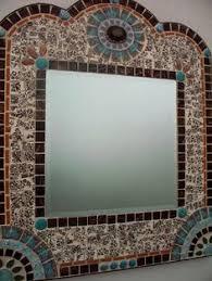 Brown Mosaic Bathroom Mirror by Mosaic Artists Gallery Of Artistic Mosaic Mirrors Pool Borders
