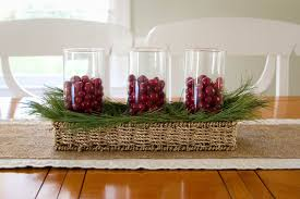 Small Kitchen Table Centerpiece Ideas by Easy Make Christmas Table Decorations 8277