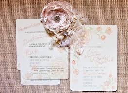 Shabby Chic Wedding Invites – Michelle Pergal