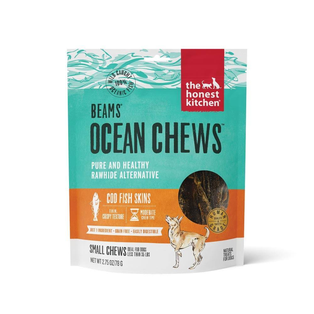 The Honest Kitchen Beams Grain Free Small Ocean Chews Cod Skin Dog Treats - 2.75 oz