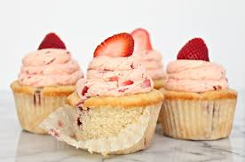 Fresh Strawberry Cupcakes Recipe Get it from CookingWithBooks