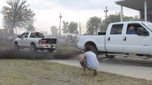 Tug Of War Of The Day: Silver Dodge 2500 Vs Ford F350