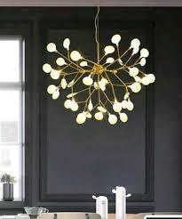pendelleuchte zweig design gold für schlaf oder wohnzimmer