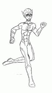 Teen Titans Kid Flash Coloring Pages Sketch Page