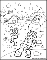 Winter Printable Worksheets