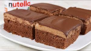 saftige nutella schnitten nutella kuchen i schokoladen kuchen