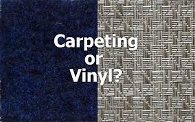 an end to the classic pontoon flooring debate carpet or vinyl