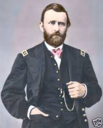 GENERAL ULYSSES S GRANT 1865 8x10 HAND COLOR TINTED CIVIL WAR PHOTOGRAPH
