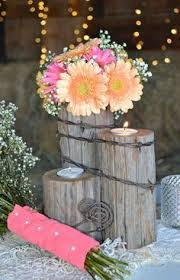Rustic Country Western Wedding Tealight Centerpiece Home Decor Reclaimed Fence Post Barbed Wire
