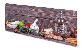 magnettafel pinnwand küche holzoptik gewürz knoblauch pfeffer