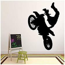 wandtattoos wandbilder dirt bike trick wandtattoo