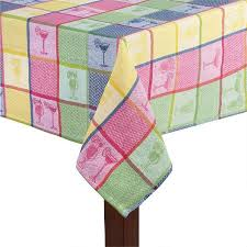 Colorful Cocktails Jacquard Tablecloth