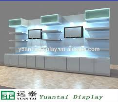 Fashion MDF Wall Mounted Cosmetic Display Unit Shelves For Retail Store