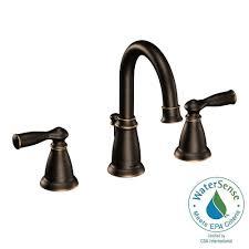moen banbury 8 in widespread 2 handle bathroom faucet in