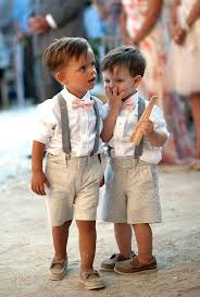 Adorable Ring Bearers In Loafers Suspenders And Bow Ties