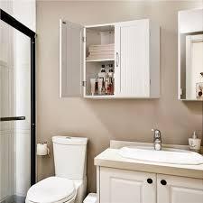 hängeschrank mit 2 türen badschrank wandschrank küchenschrank medizinschrank weiß