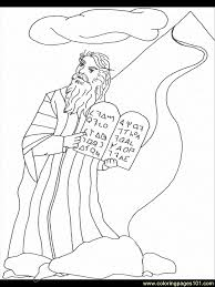 Free Printable Coloring Pages Moses