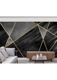 foto tapete 3d modern marmor geometrische goldene linien