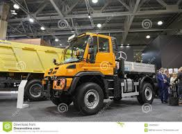 100 Unimog Truck MOSCOW SEP 5 2017 View On New Service MercedesBenz