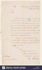 Brief Von Henry Knox 17501806 Sekretär Des Krieges Zu Oberst