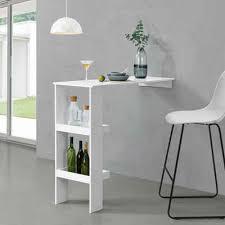 en casa bartisch sölvesborg bartresen stehtisch theke für wandmontage 120x45x106 cm weiß